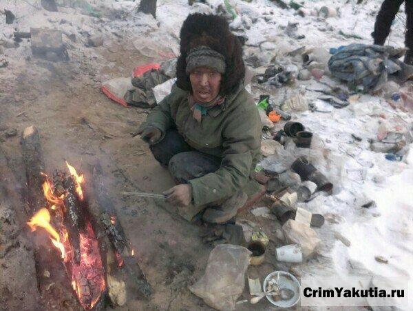 В Олекминске замерзает бездомный человек
