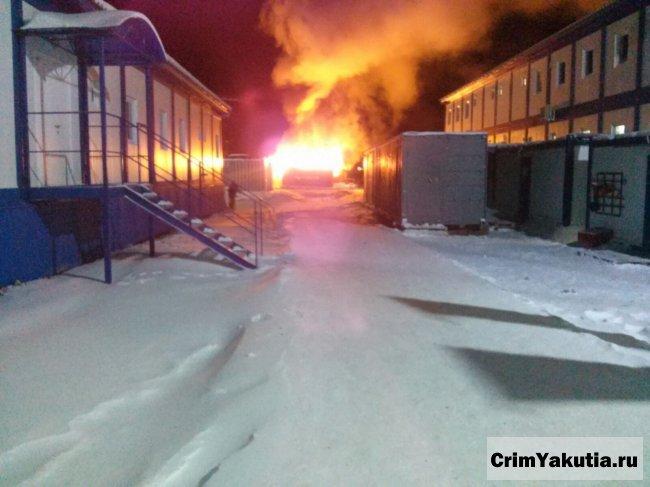 Фото пожара на строящейся ГРЭС-2 г.Якутск, 16.11.2015г