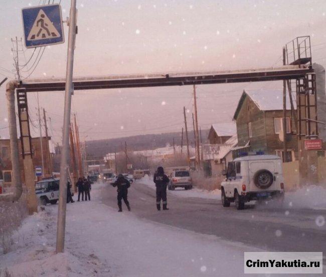 Фотофакт: план-перехват на ул.Билибина в Якутске