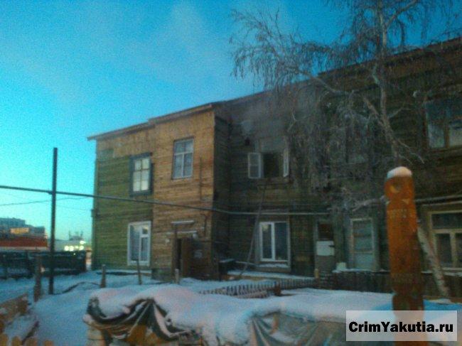 Пожар в районе Авиапорта в Якутске