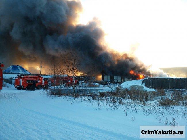 Пожар в Ленске