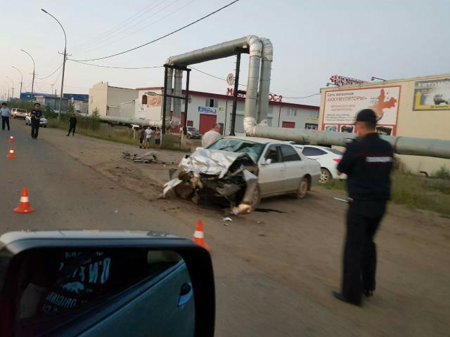 Фотофакт: жёсткое ДТП в г.Мирный