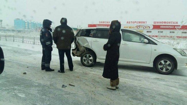 В Якутске из-за пьяного водителя случилось тройное ДТП