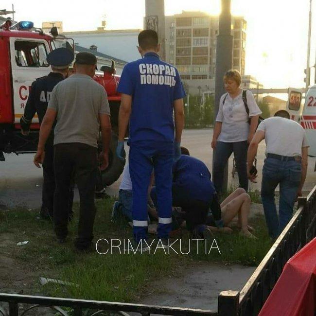 Крупная авария в центре Якутска