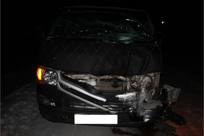 В Нюрбинском районе Якутии пешеход в результате ДТП получил тяжелые травмы