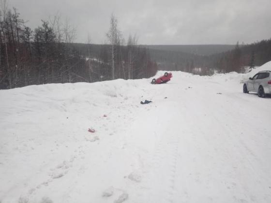 В Якутии автоледи получила серьезные травмы